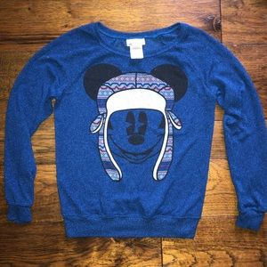 Disney's Mickey Mouse Blue LS Winter Sweater